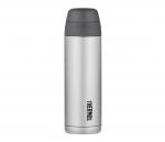 Kubek termiczny ze słomką Thermos Style 530 ml (stalowy/czarny)