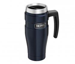 Kubek termiczny Thermos Travel King 470 ml z rączką (granatowy)