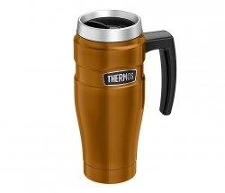 Kubek termiczny Thermos Travel King 470 ml z rączką (miedziany)