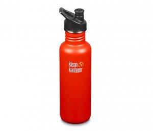 Butelka Klean Kanteen Classic z nakrętką Sport Cap 800 ml (sierra sunset) pomarańczowy