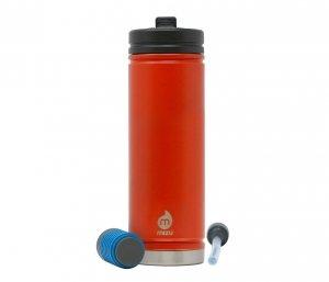 Kubek termiczny z filtrem do wody V7 650 ml MIZU 360 Everyday Kit (pomarańczowy) nanotechnologia NASA