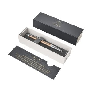 Długopis Parker Urban Premium z Twoim grawerem + pudełko prezentowe (pomarańczowy/srebrny)