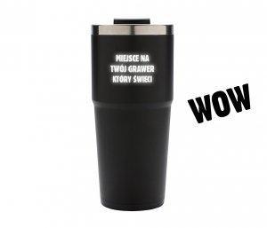 Kubek termiczny 480 ml z podświetlanym grawerem LED (czarny)
