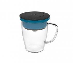 Kubek z zaparzaczem do kawy 350 ml PAO Duo Dripper (czarno-niebieski)