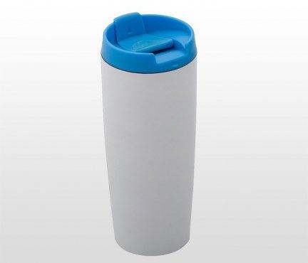 Kubek termiczny 390 ml LADY PLUS (biało-niebieski)