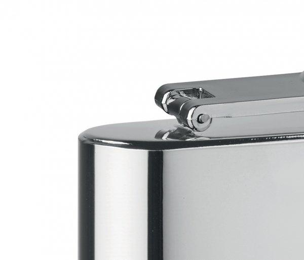 Piersiówka stalowa chrom 180 ml FLASKY srebrny