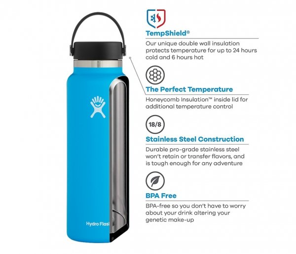 Termos Hydro Flask Wide Mouth 2.0 Flex Cap 1182 ml olive