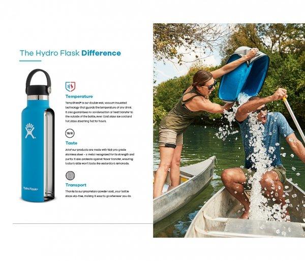 Butelka termiczna Hydro Flask 621 ml Standard Mouth Flex Cap hibiscus vsco