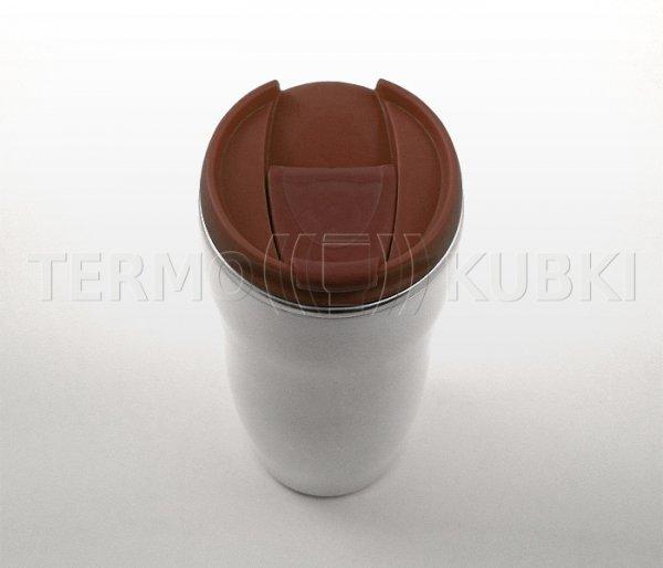 Kubek termiczny 350 ml LADY (biało-brązowy)