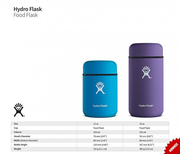 Termos na posiłek Food Flask 532 ml Hydro Flask pacific