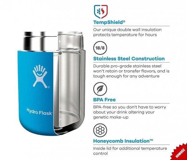 Termos na posiłek Food Flask 532 ml Hydro Flask pacific