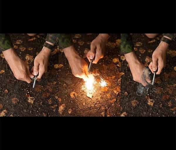 Krzesiwo Light My Fire BIOSCOUT 2in1 Orange 3 tys. użyć pomarańczowy