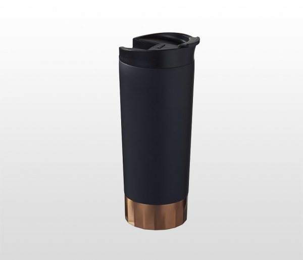 Kubek termiczny COPPER 510 ml (czarny), miedziana izolacja