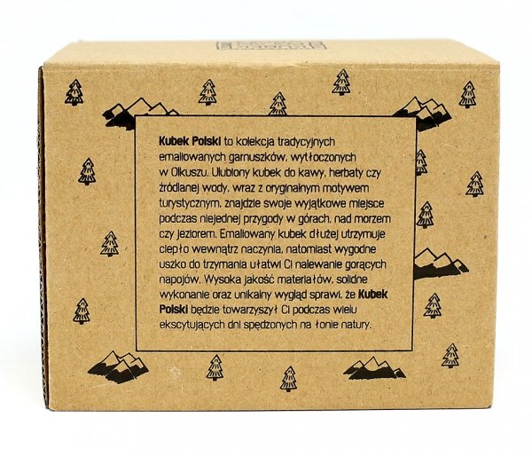 Kubek Polski Bieszczadzki emaliowany pudełko