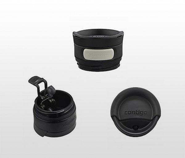 Kubek termiczny CONTIGO Transit (Metra) 470 ml (czarny mat)