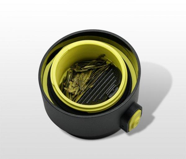 Kubek termiczny z zaparzaczem 350 ml PAO (czarny/żółty)