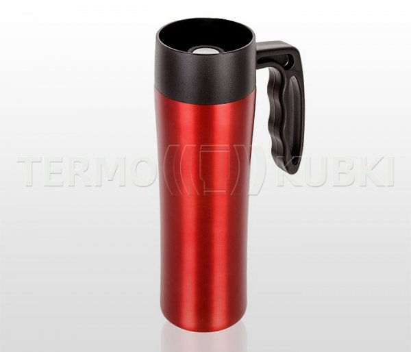Kubek termiczny z rączką 400 ml CANVELIO (czerwony)