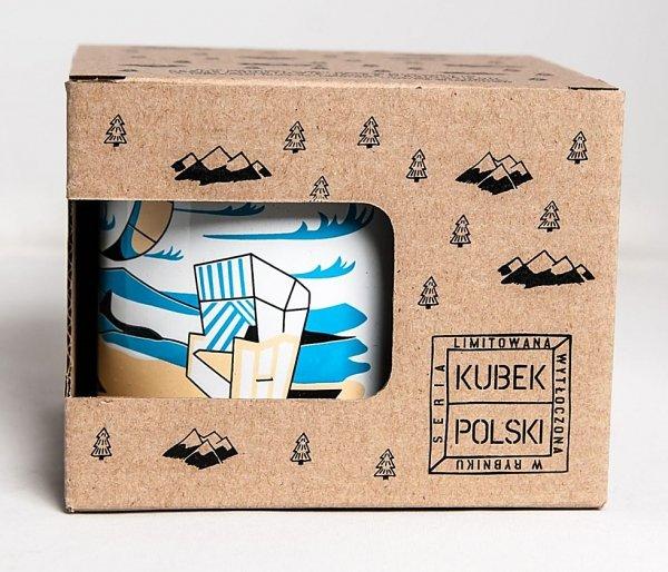 Kubek Polski Bałtycki emaliowany 350 ml biały