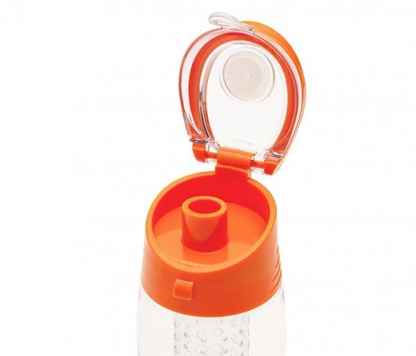 Bidon z koszykiem na owoce 700 ml FRESHER pomarańczowy