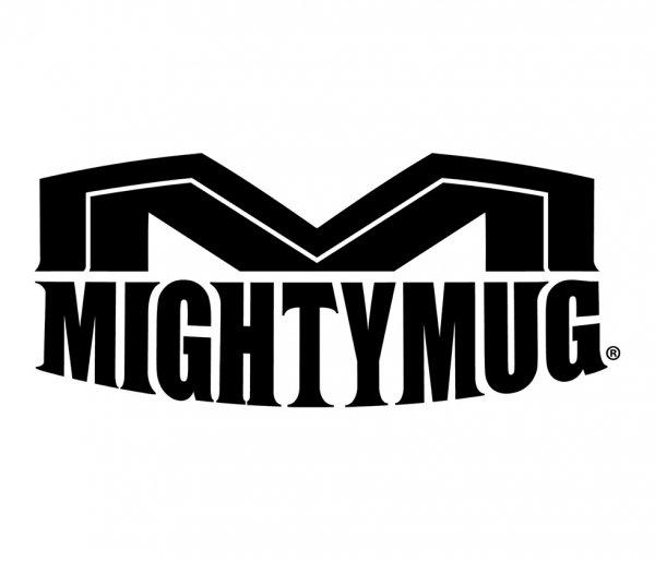 logo mighty mug