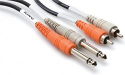 HOSA CPR 204 - KABEL TS 6,35 - 2 x RCA 4M