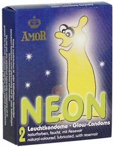 Prezerwatywy-Amor NEON świecące 2pcs