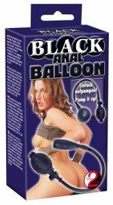5238870000 Black Anal Balloon-Wibrator