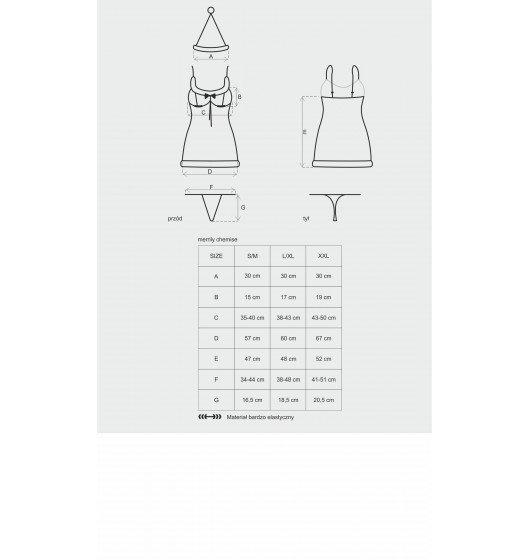 Merrily koszulka i stringi S/M