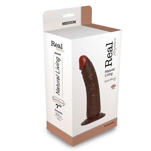 "Wibrator-REALISTIC VIBRATOR REAL RAPTURE BROWN 7"""""""""""""""""