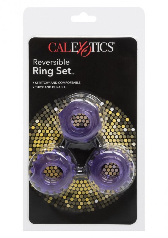 Pierścień-REVERSIBLE RING SET PURPLE