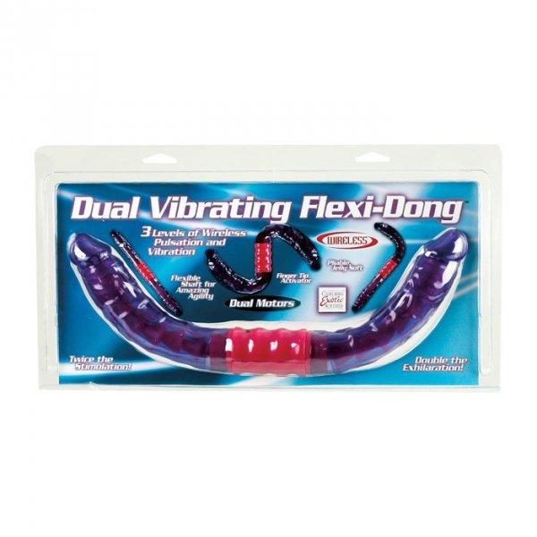 Wibrator-DUAL VIBRATING FLEXI-DONG PURPLE