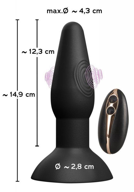 Korek analny silikonowy z wibracjami 14,9cm