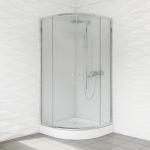 Kabina prysznicowa duso półokrągła 80 transparent