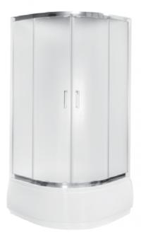 Kabina prysznicowa półokrągła Modern 165 niska 80x80 cm transparentna