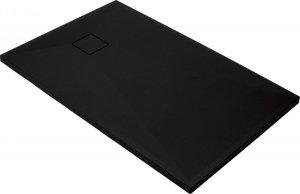 Brodzik prostokątny granitowy Correro 100x80 czarny matowy KQR_N46B
