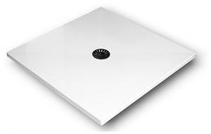 Brodzik kwadratowy 90x90x4 De Luxe Stabilsound Plus