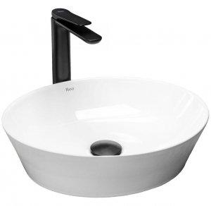 Umywalka ceramiczna nablatowa Saga 41x37,5 REA-U9851