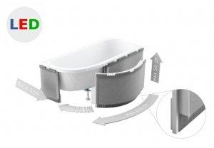 Zabudowa obudowa styropianowa do wanien półokrągłych LED