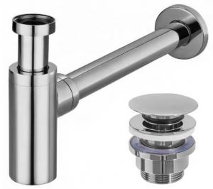 Uniwersalny syfon z korkiem klik klak do umywalek REA-A5693