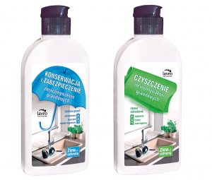 Zestaw preparatów do konserwacji i czyszczenia zlewozmywaków granitowych
