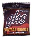 Struny GHS ACOUSTIC VINTAGE BRONZE 010-046 (akustyk)