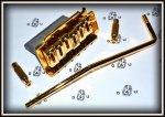 Mostek Tremolo TM6-GD Typ Stratocaster GOLD