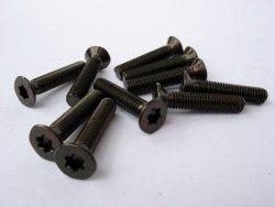 Wkręty, śruby M5x25 stożkowe, czarne 10szt.