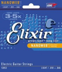 Struny Elixir NanoWeb Light 10-46