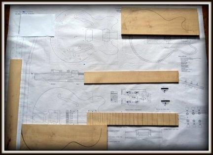 Plan budowy gitary GIBSON SC 356