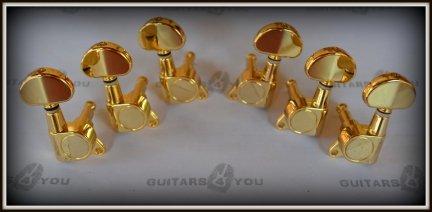Klucze gitarowe J03 typ Grover 3+3 GOLD