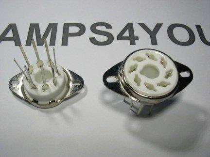 Podstawka GZC8-Y-4 8pin OCTAL do druku ceramiczna