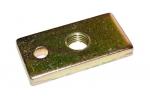 Płytka stalowa z gwintem - mocowanie pasów