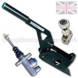 Hydrauliczny hamulec ręczny Compbrake poziomy z pompą AP Racing i korektorem siły hamowania