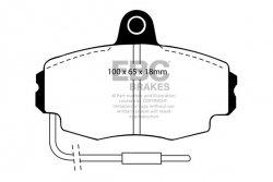 Klocki hamulcowe EBC Greenstuff przód RENAULT Clio (Mk1) 1.8 16v 75mm ABS ring 90-92